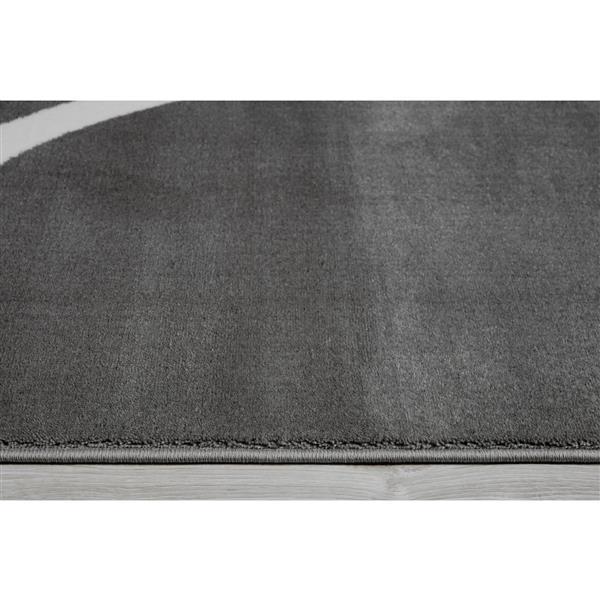 La Dole Rugs® Turkish Spiral Rectangular Area Rug - 7' x 10' - Dark Grey