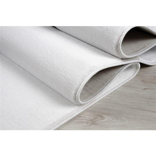 La Dole Rugs® Turkish Spiral Rectangular Area Rug - 8' x 11' - White