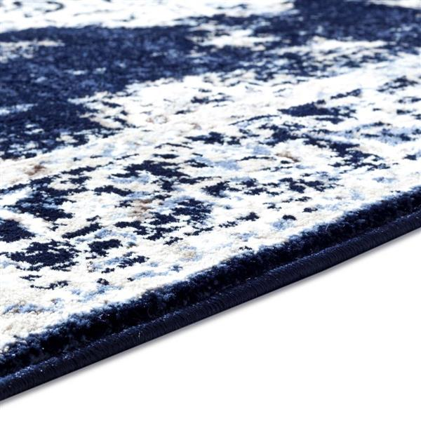 La Dole Rugs®  Anatolia European Area Rug - 4' x 5' - Ivory/Navy Blue