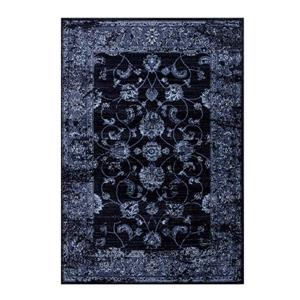 Tapis traditionnel rectangulaire Anatolie, 2' x 3', marine