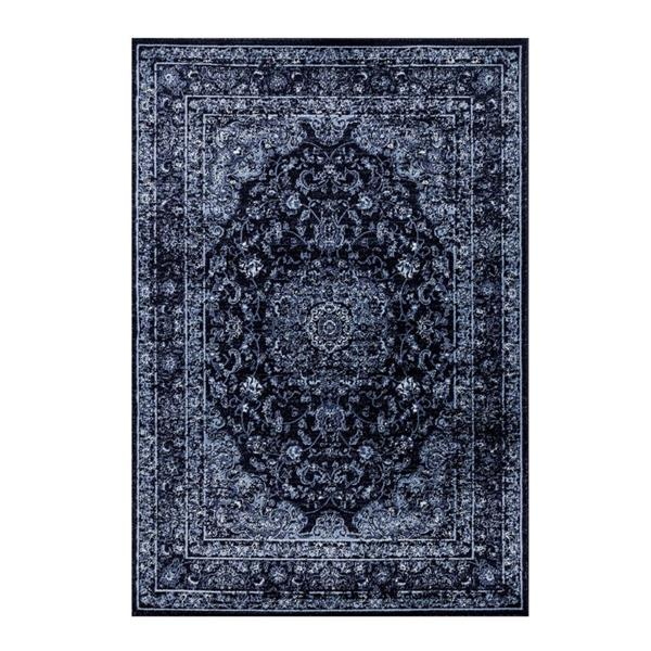 La Dole Rugs®  Anatolia Traditional Rectangular Rug - 5' x 7' - Navy Blue