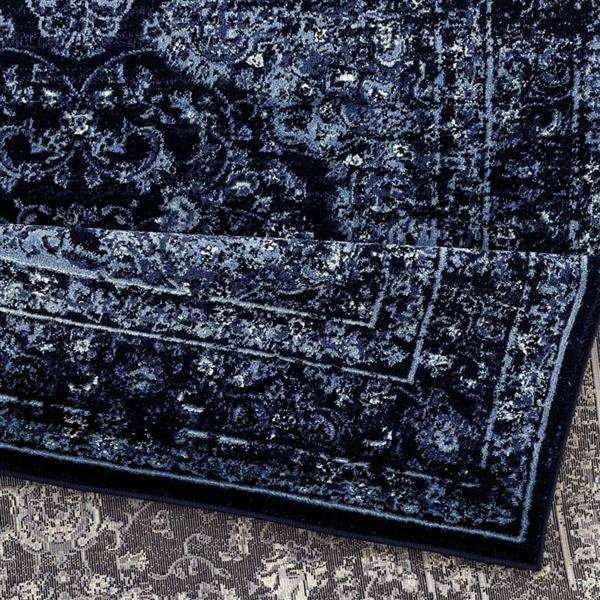 La Dole Rugs®  Anatolia Traditional Rectangular Rug - 4' x 5' - Navy Blue