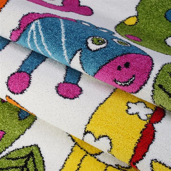 La Dole Rugs®  Kids Cartoon Animal Area Rug - 5' x 7' - Cream/Multicolour
