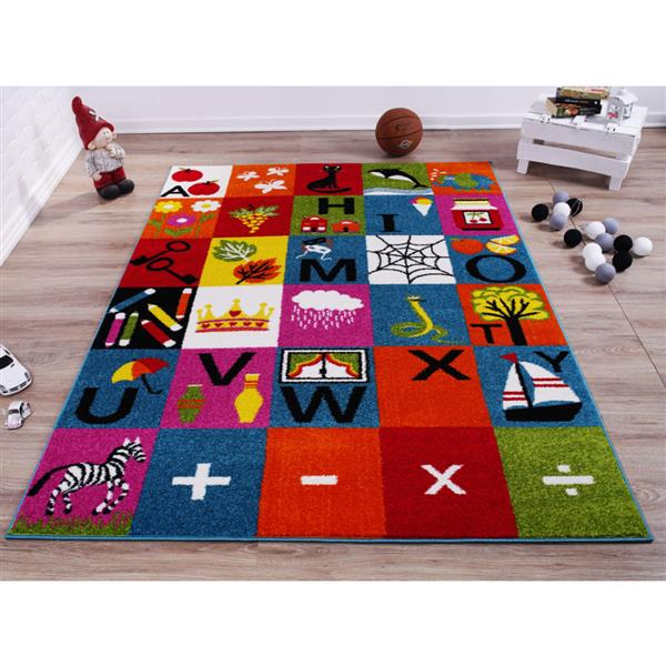 La Dole Rugs®  Kids Alphabet Area Rug - 5' x 7' - Multicolour