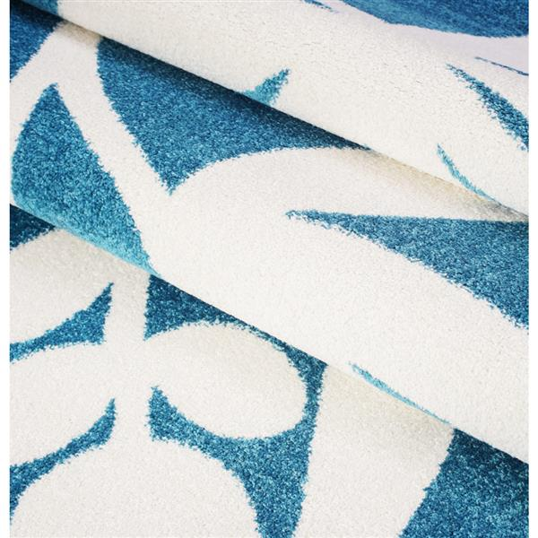 La Dole Rugs® Botanical Area Rug  - 5' x 7' - Blue/Cream