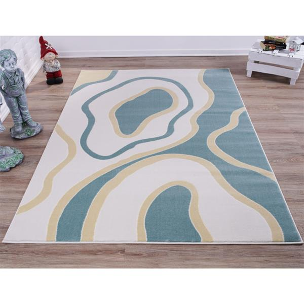 La Dole Rugs® Abstract Area Rug - 8' x 11' - Blue/White