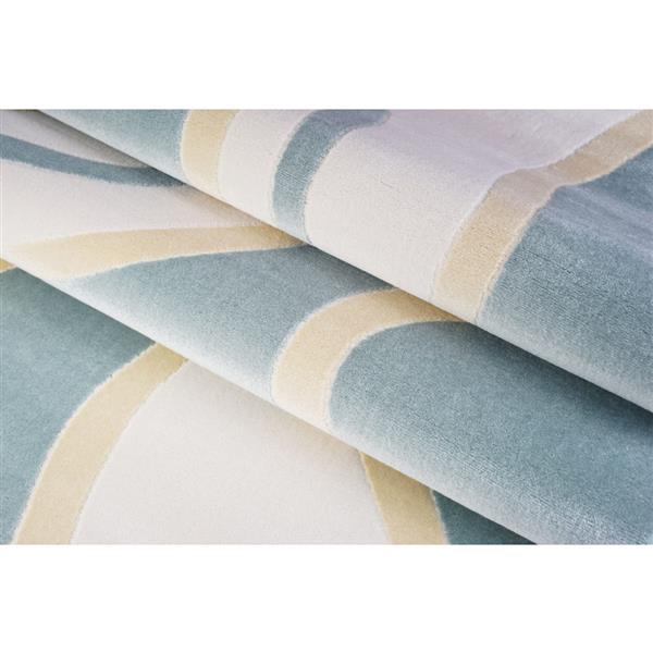 Tapis abstrait de La Dole Rugs(MD), 4' x 6', bleu/blanc