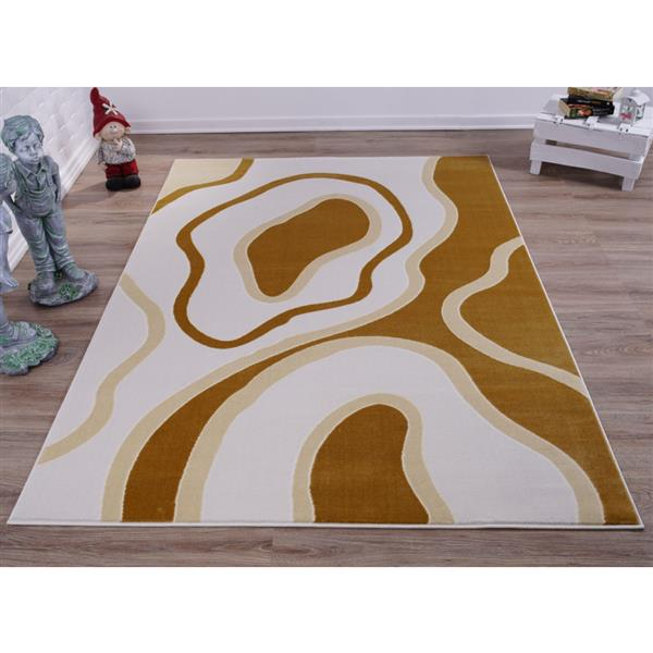 La Dole Rugs® Abstract Area Rug - 4' x 6' - Peach/Yellow