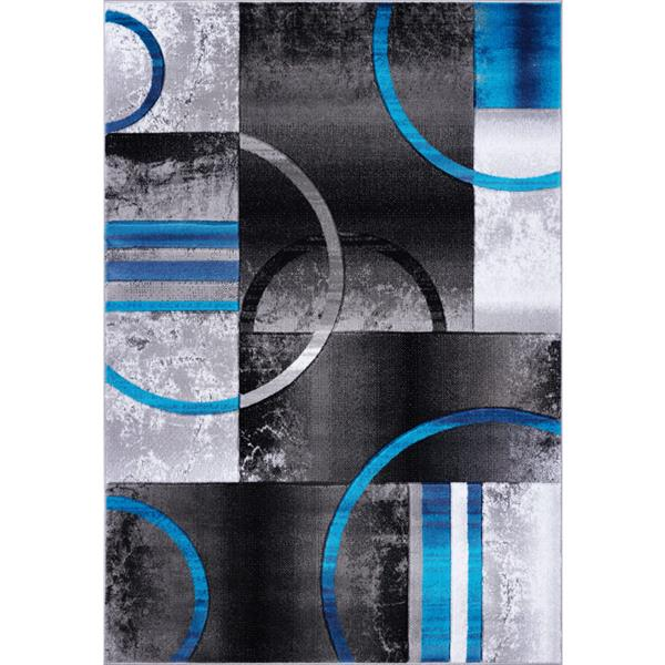 La Dole Rugs®  Adonis Geometric Area Rug - 5' x 8' - Black/Grey