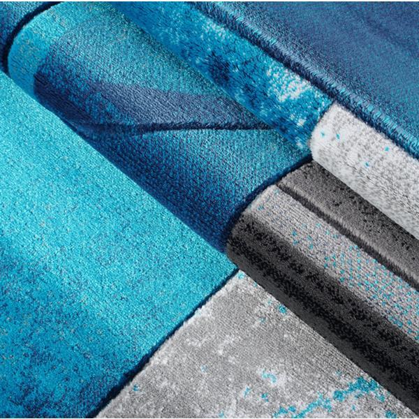 La Dole Rugs®  Adonis Geometric Area Rug - 5' x 8' - Turquoise/Black