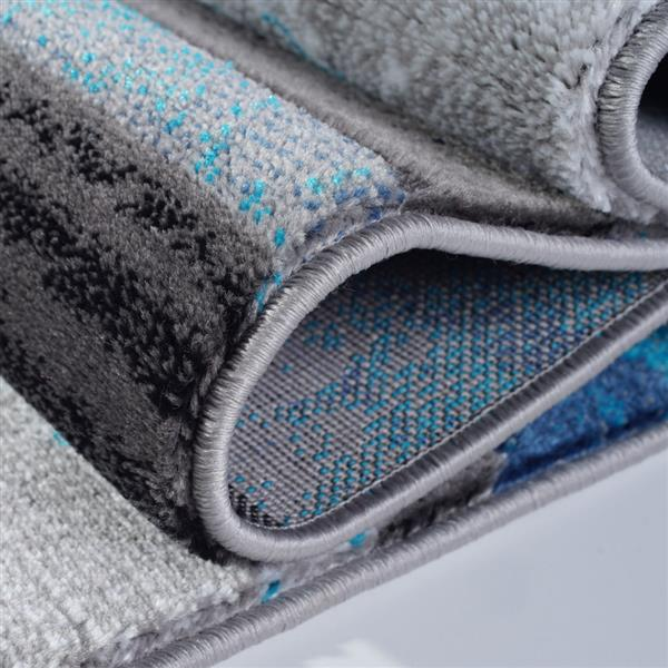 La Dole Rugs®  Adonis Geometric Area Rug - 3' x 5' - Turquoise/Black