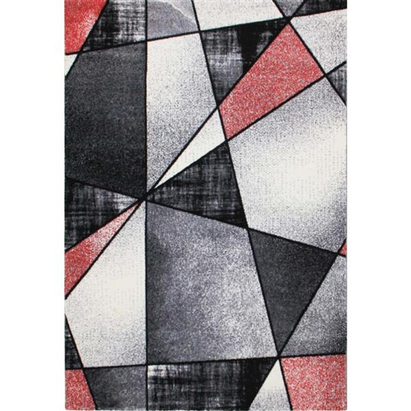 "La Dole Rugs® Geometric Rug - 6' 2"" x 9' 2"" - Black"