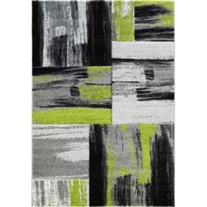 "La Dole Rugs®  Copper Abstract Area Rug - 6' 2"" x 9' 2"" - Green/Black"