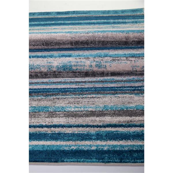 La Dole Rugs®  Kensington Line Abstract Rug - 8' x 11' - Blue/Ivory