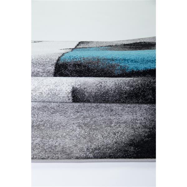 La Dole Rugs® Geometric Area Rug - 7' x 10' - Blue/Grey
