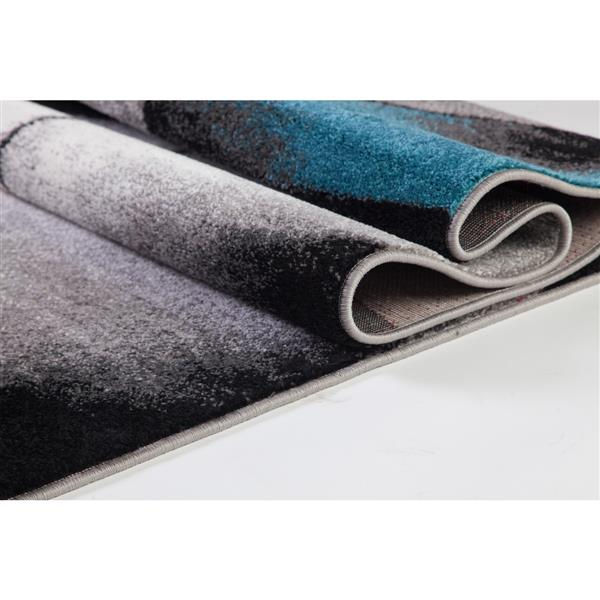 La Dole Rugs® Geometric Area Rug - 3' x 10' - Blue/Grey