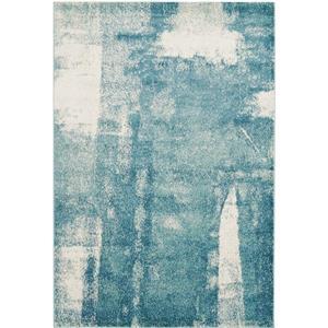Tapis géométrique de La Dole Rugs(MD), 4' x 6', bleu/gris