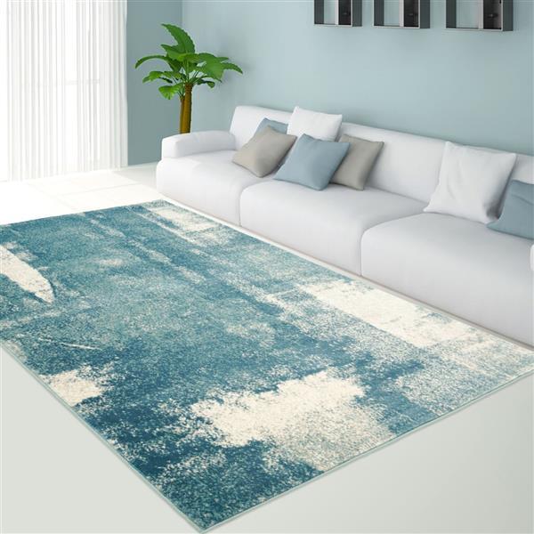 La Dole Rugs® Abstract Area Rug - 7' x 10' - Blue/Grey