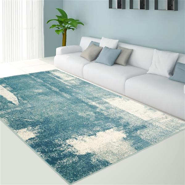 La Dole Rugs® Abstract Area Rug - 8' x 11' - Blue/Grey