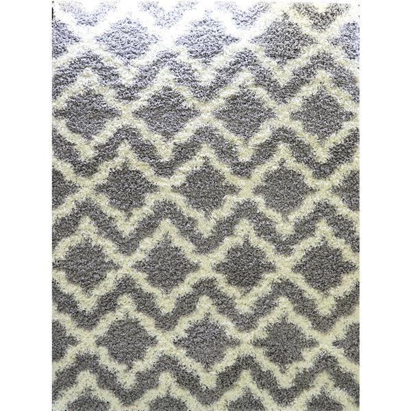 La Dole Rugs® Trellis Area Rug - 7' x 10' - Grey/Cream