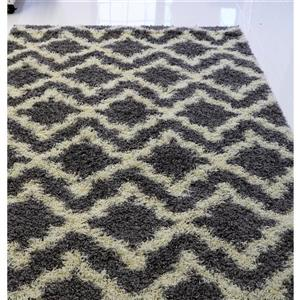 La Dole Rugs® Trellis Area Rug - 7' x 10' - Grey/Cream