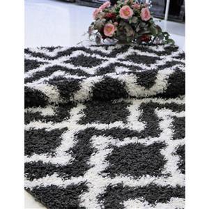 La Dole Rugs® Trellis Area Rug - 5' x 8' - Grey/White
