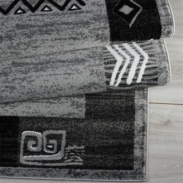 La Dole Rugs® Boarder Modern Rug - 7' x 10' - Grey
