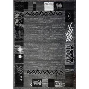 La Dole Rugs®  Boarder Contemporary Rectangular Rug - 7' x 10' - Grey