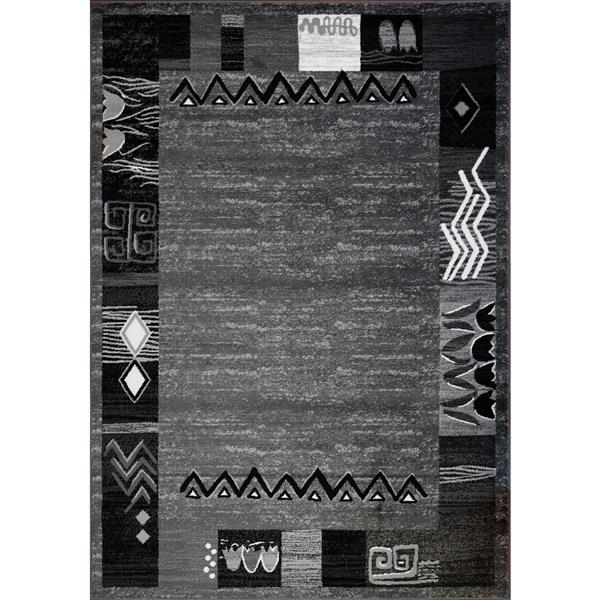La Dole Rugs®  Boarder Contemporary Rectangular Rug - 5' x 8' - Grey