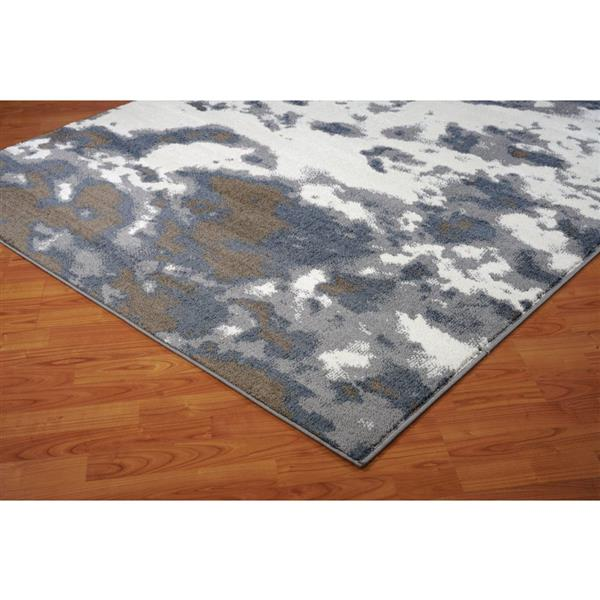 La Dole Rugs® Brampton Turkish Rug - 5' x 8' - Grey
