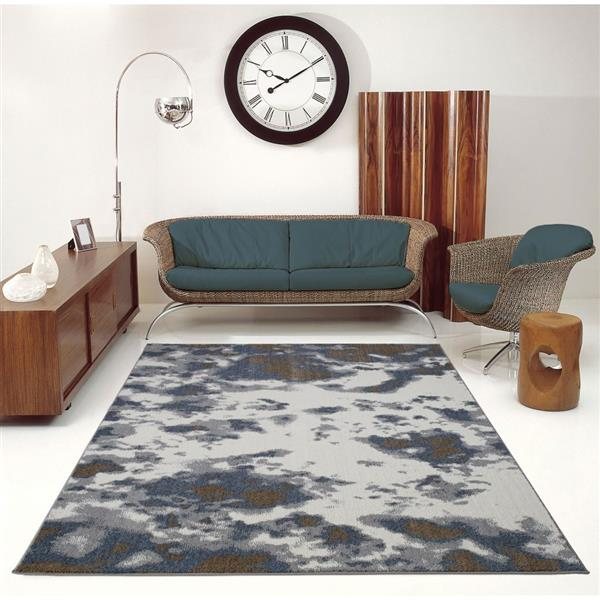 La Dole Rugs® Brampton Turkish Rug - 4' x 6' - Grey