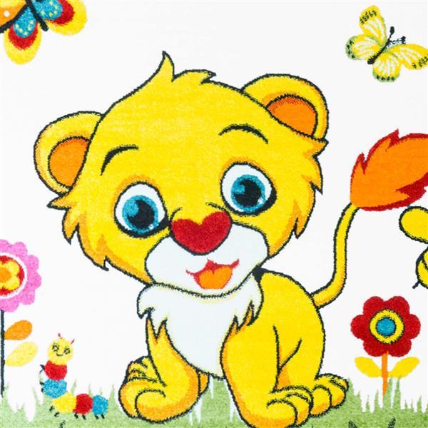 La Dole Rugs®  Kids Moda Lion Area Rug - 7' x 10' - White