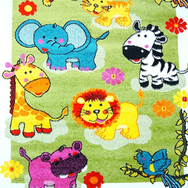 La Dole Rugs®  Kids Moda Modern Animal Area Rug - 4' x 6' - Green