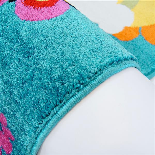 La Dole Rugs® Kids Moda Modern Owl Rug - 7' x 10' - Blue