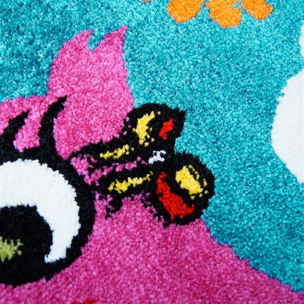 Tapis pour enfants à motif oiseaux «Moda», 4' x 6', blue