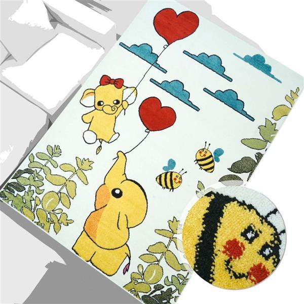 La Dole Rugs® Kids Modern Moda Animal Area Rug - 5' x 8' - Multicolour