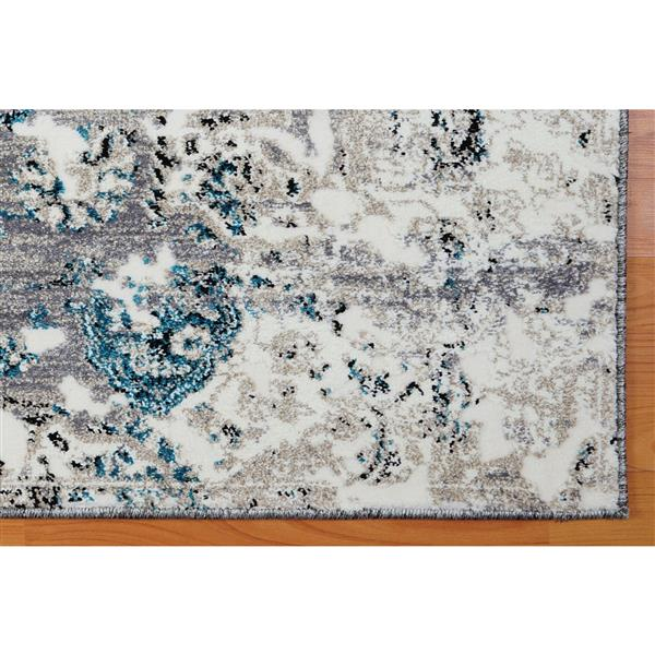 La Dole Rugs®  Copacabana Abstract Contemporary Rug - 4' x 6' - Grey