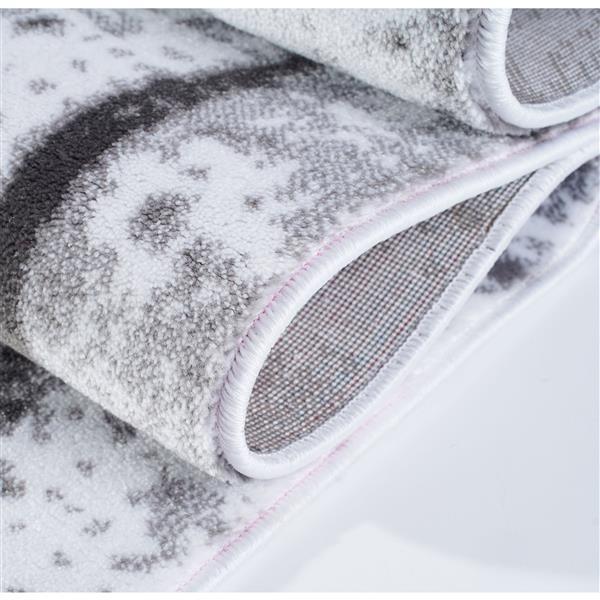 La Dole Rugs® Anise Art Area Rug - 7' x 10' - Grey/Cream