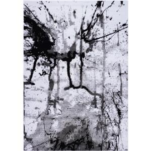 Tapis «Anise» de La Dole Rugs(MD), 3' x 10', gris/crème