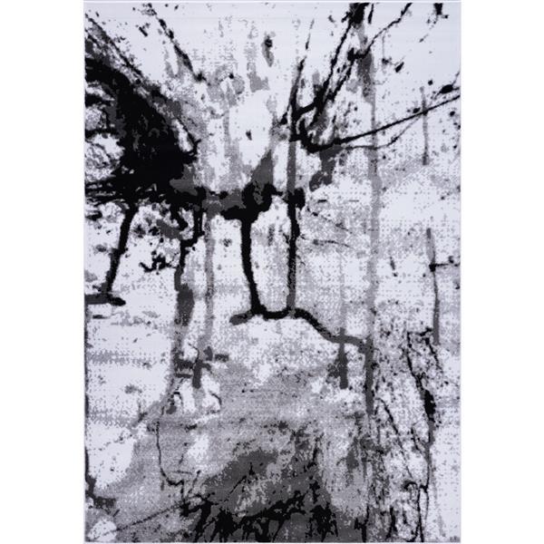 La Dole Rugs® Anise Art Area Rug - 4' x 6' - Grey/Cream