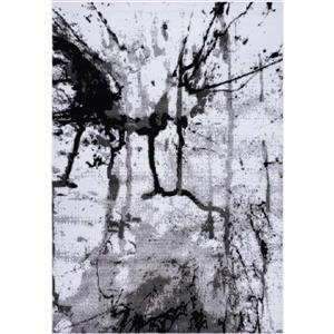 Tapis «Anise» de La Dole Rugs(MD), 4' x 6', gris/crème