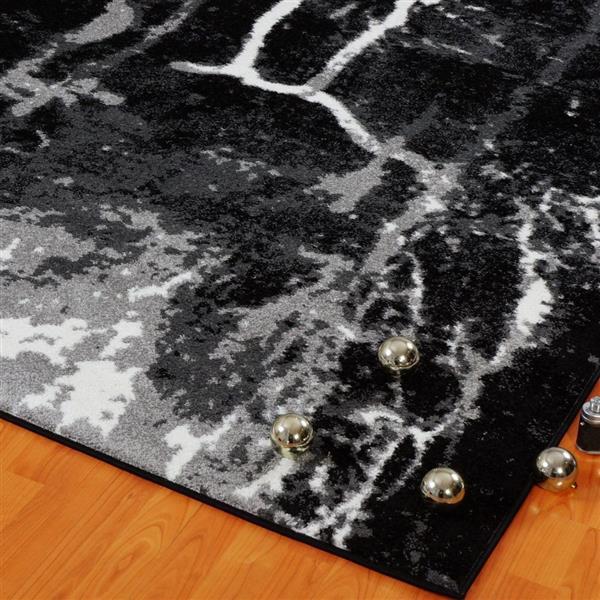 La Dole Rugs® Anise Art Area Rug - 5' x 8' - Black/White