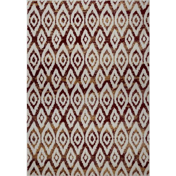 La Dole Rugs®  Bolivya Geometric Modern Area Rug - 7' x 10' - Yellow/Pink