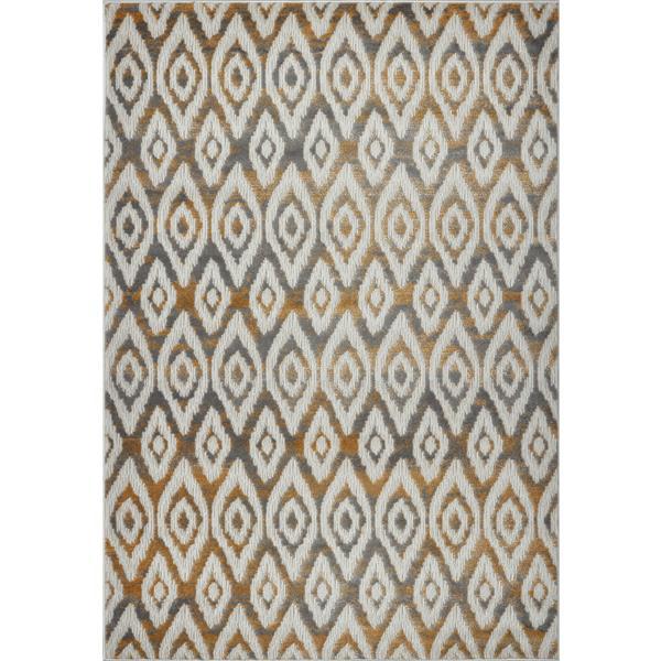 La Dole Rugs®  Bolivya Geometric Modern Area Rug - 7' x 10' - Grey