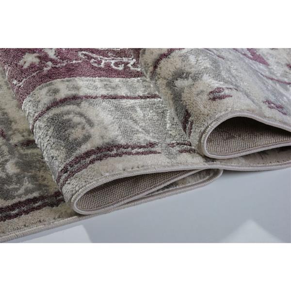 La Dole Rugs®  Abstract Garnet Contemporary Rug - 7' x 10' - Rose/Cream