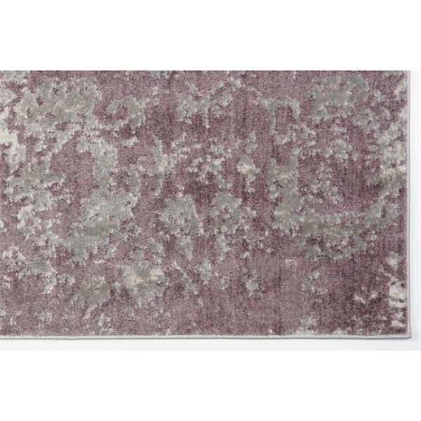 Tapis moderne «Cherine» La Dole Rugs(MD), 7' x 10', prune