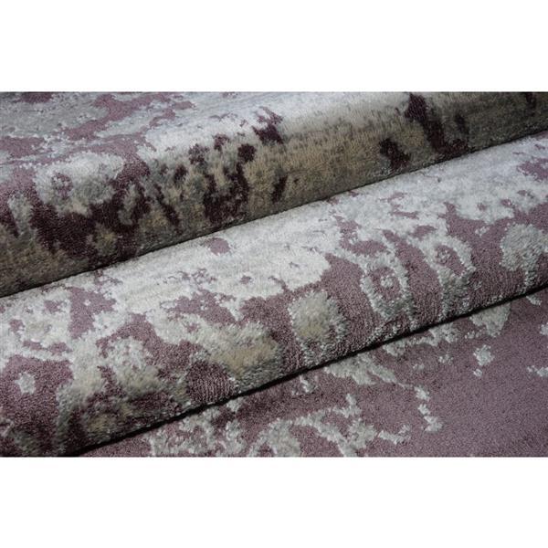 La Dole Rugs® Cherine Modern Area Rug - 4' x 6' - Plum