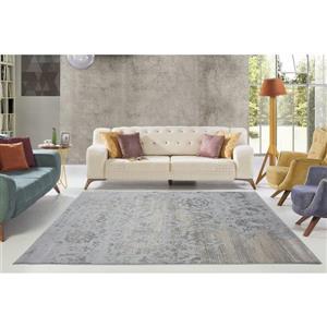 La Dole Rugs® Cherine Modern Carpet  - 4' x 6' - Grey
