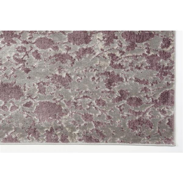 Tapis moderne «Concord» de La Dole Rugs(MD), 4' x 6', prune