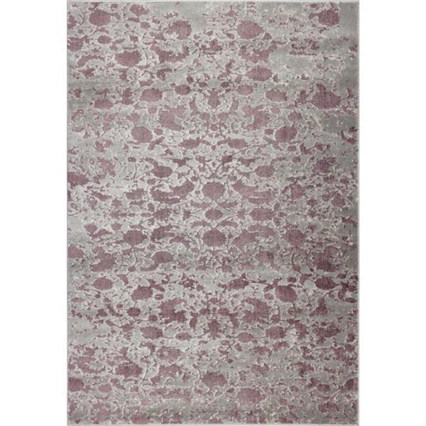 Tapis abstrait «Concord» de La Dole Rugs(MD), 3' x 5', gris